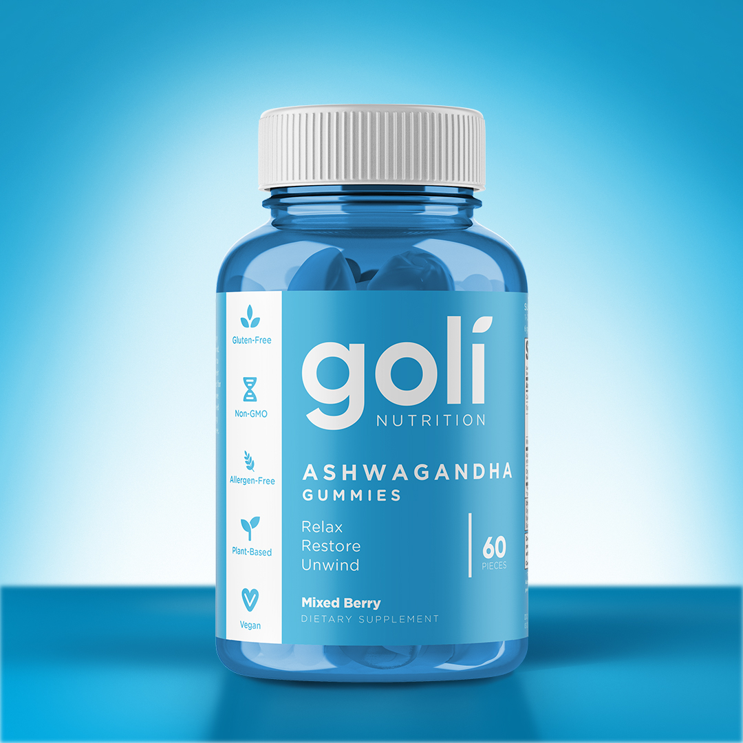 """Close up image of ashwagandha gummies by goli nutrition"""